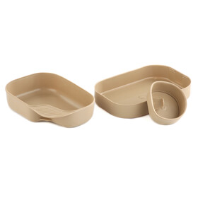 Wildo Camp-a-box dishes Basic beige/black